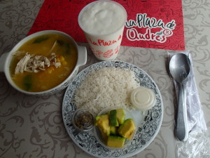 Ajiaco Soup and Guanabana drink